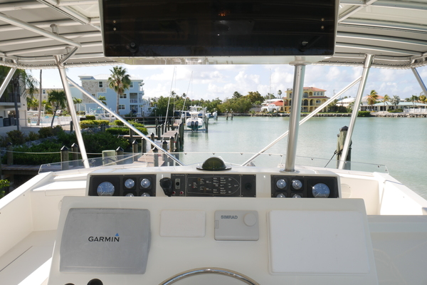 1990 Viking 53 Convertible  Fit For Duty  Cockpit