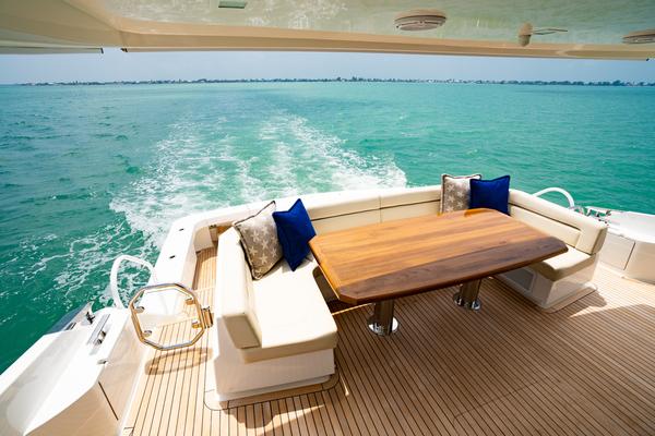 Viking 82CPMY Make It Happen Aft Deck Table