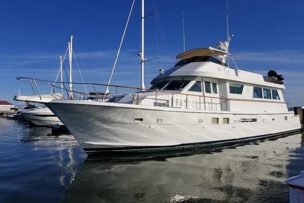 78' Hatteras Cockpit Motor Yacht 1989 | Carolina Wind