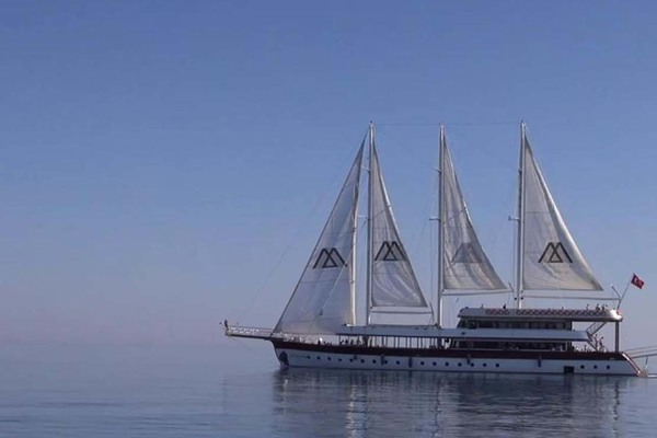 Port Side View  Under Sail