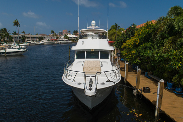 1998 Hatteras 74' Sport Deck Our Trade | Picture 6 of 72