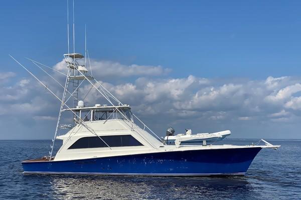 1989 63 Ocean   Stbd Profile Reel Blue