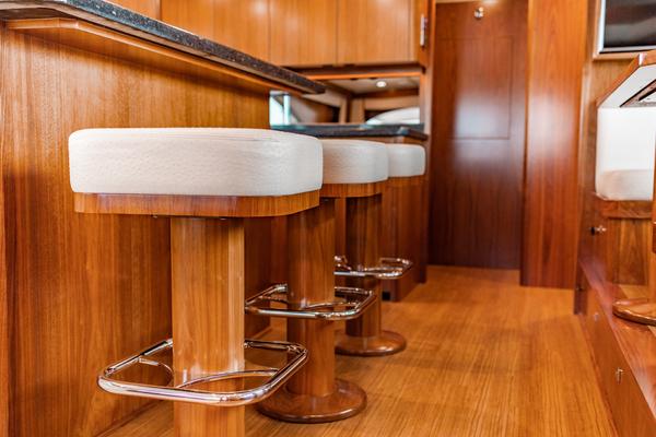 2018 Viking 72 Enclosed Bridge  Red Lion  Salon