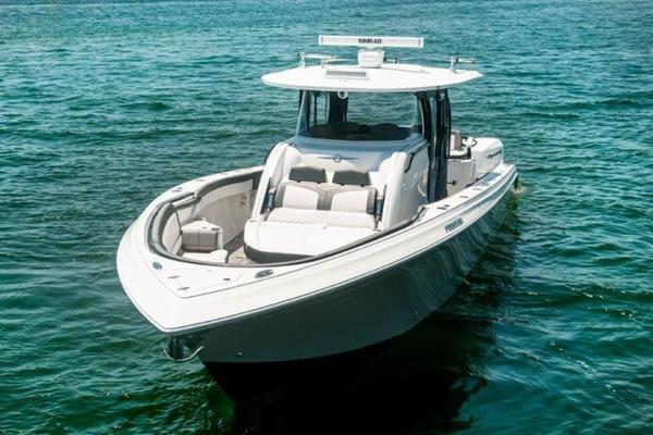 2019 Fountain 43 NX  Galati Yacht Sales Trade  Bow