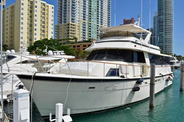 63-ft-Hatteras-1988-Sportfish Enclosed Bridge-Destiny Miami Beach Florida United States  yacht for sale