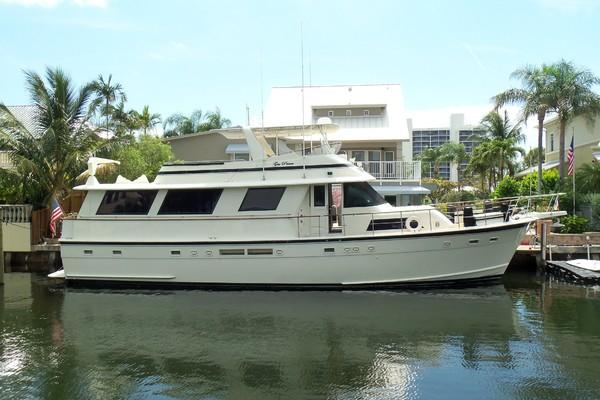 63-ft-Hatteras-1987-Flush Deck Flybridge Motor Yacht-GAS PASSER Delray Beach Florida United States  yacht for sale