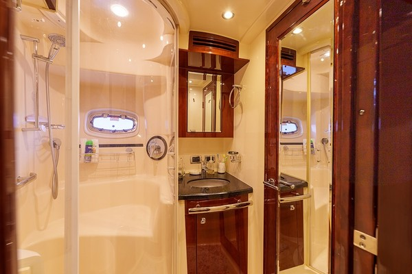 Guest shower and vanity