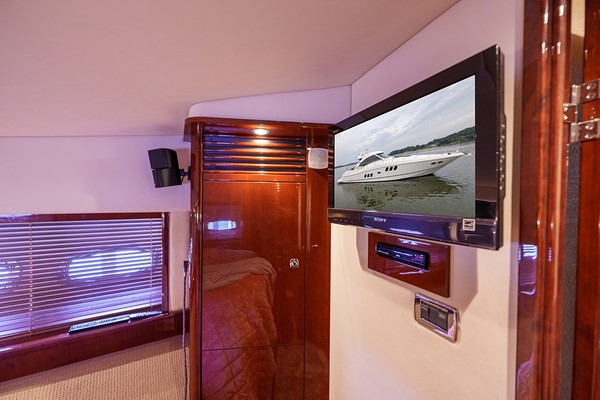 Entertainment center in the VIP stateroom