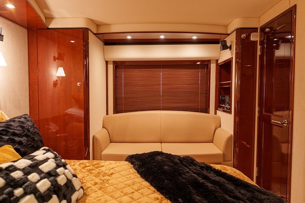 Sofa in the master stateroom