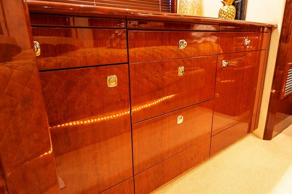 Drawers/storage in the master stateroom