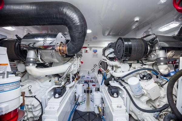 2019 Viking 44 Convertible  Engine Room