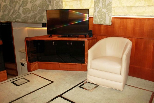 Salon Chair and TV