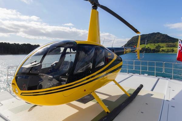 Helipad & Robinson R44