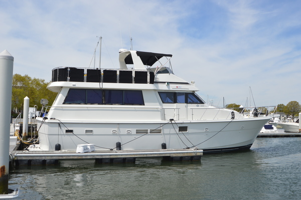 photo of 1990 Hatteras 54 ED, stbd side