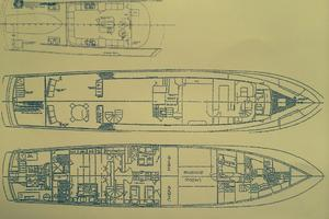 106' Denison Raised Bridge Motor Yacht-1986/2010 1986 ARRANGEMENT PLANS