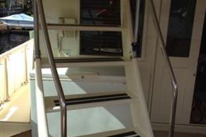 56' Hatteras Motoryacht 1983 Aft Deck Staircase to Bridgedeck