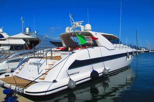 80' Mangusta 80 2003 Starboard Stern Profile