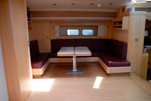 100' Camper & Nicholsons Custom Sloop 1989 Upper Salon