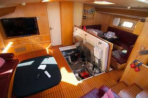 100' Camper & Nicholsons Custom Sloop 1989 Main Salon - Floor Open