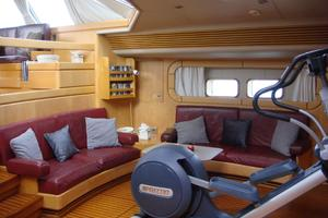 100' Camper & Nicholsons Custom Sloop 1989 Main Salon