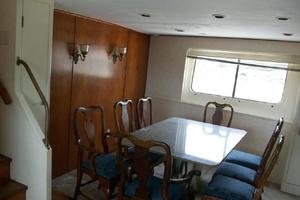 86' Feadship Classic Canoe Stern 1964 Dining area below deck (large hull windows)