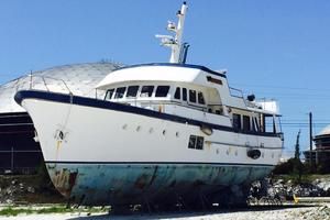 86' Feadship Classic Canoe Stern 1964 Current condition (May 16, 2015)