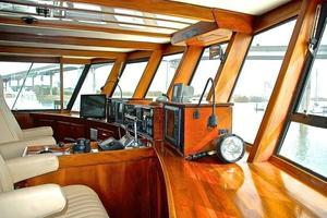 74' Infinity Cockpit Motor Yacht 2001 Pilothouse Helm View 3