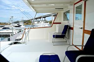 74' Infinity Cockpit Motor Yacht 2001 Upper Aft Deck View 2
