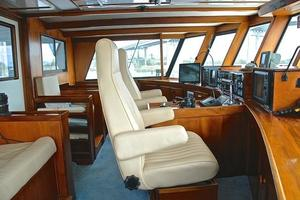 74' Infinity Cockpit Motor Yacht 2001 Pilothouse Helm View 2