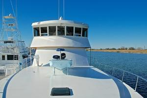 74' Infinity Cockpit Motor Yacht 2001 Fore Deck Aft View