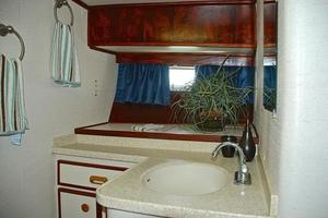 74' Infinity Cockpit Motor Yacht 2001 Master Ensuite Head