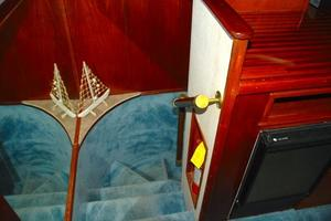 74' Infinity Cockpit Motor Yacht 2001 Stairwell