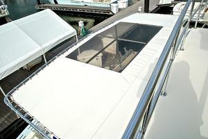 74' Infinity Cockpit Motor Yacht 2001 Bimini Sun Shade Upper View