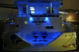 74' Infinity Cockpit Motor Yacht 2001 Blue Led Lights