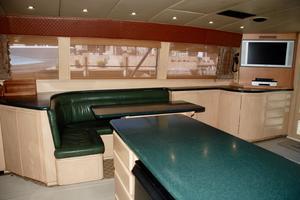 60' Bertram Convertible 1991 Salon Side View