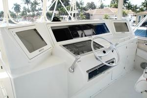 60' Bertram Convertible 1991 Flybridge Helm Console