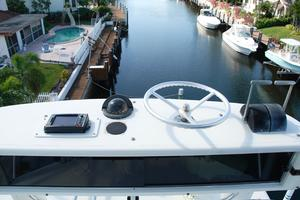 60' Bertram Convertible 1991 Tower Helm Console