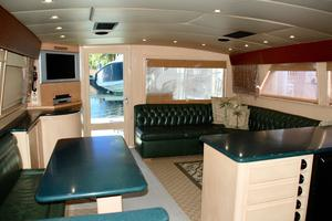 60' Bertram Convertible 1991 Salon Aft View