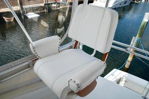 60' Bertram Convertible 1991 Flybridge Helm Chair