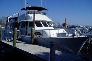 61' Hatteras Cockpit Motor Yacht 1981 At the Dock