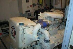 61' Hatteras Cockpit Motor Yacht 1981 Starboard Engine