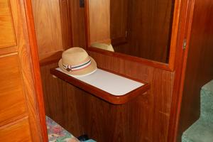 57' Wellington Pilothouse 1989 Vanity - desk in master