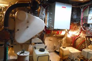 57' Wellington Pilothouse 1989 Engine Room looking aft to port