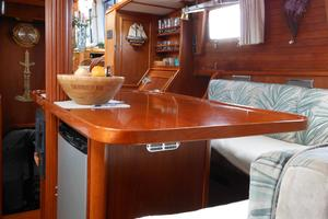 57' Wellington Pilothouse 1989 dining salon looking aft