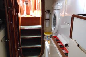 57' Wellington Pilothouse 1989 Looking forward from engine room