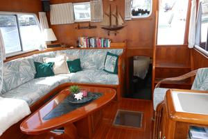 57' Wellington Pilothouse 1989 Salon looking aft