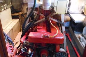 57' Wellington Pilothouse 1989 Main engine - 8KW generator above