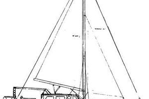 57' Wellington Pilothouse 1989 Line Drawing profile
