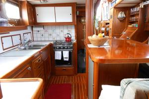 57' Wellington Pilothouse 1989 Galley looking aft