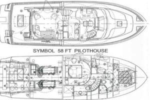 58' Symbol 58 Pilothouse 2006 Layout